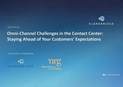 Omni-Channel Challenges in the Contact Center Webinar